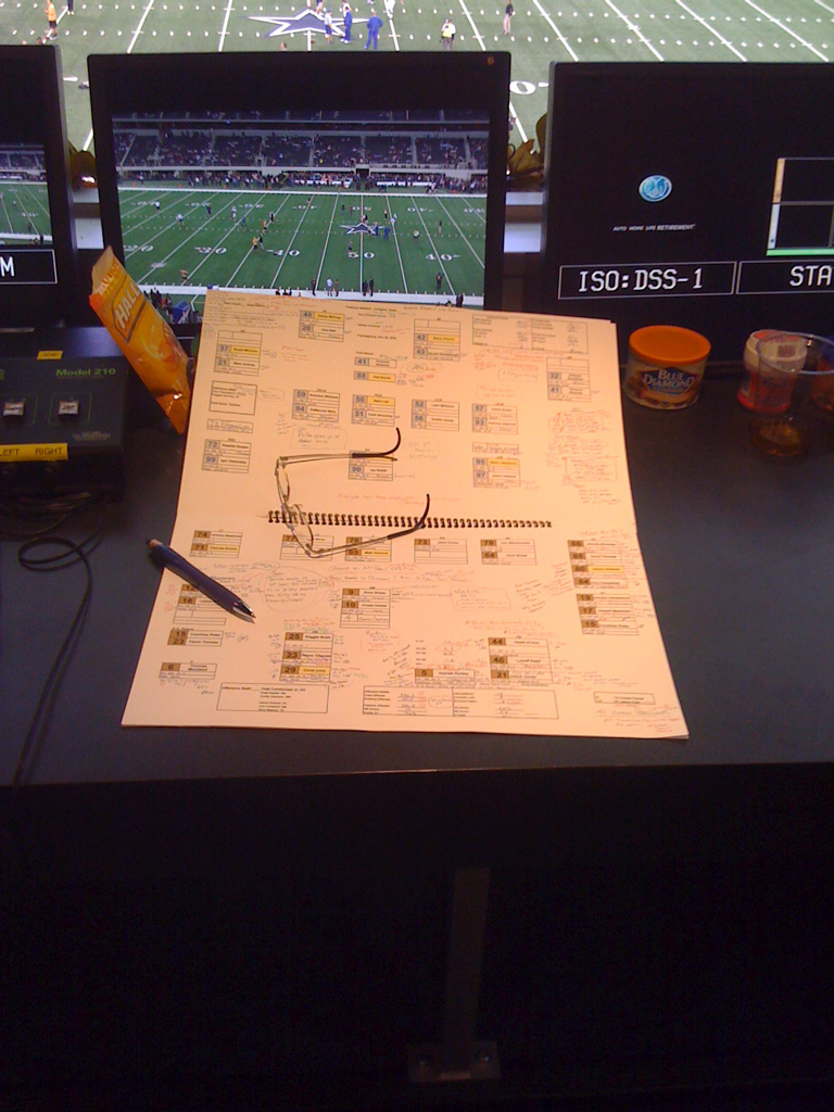 broadcast game notes